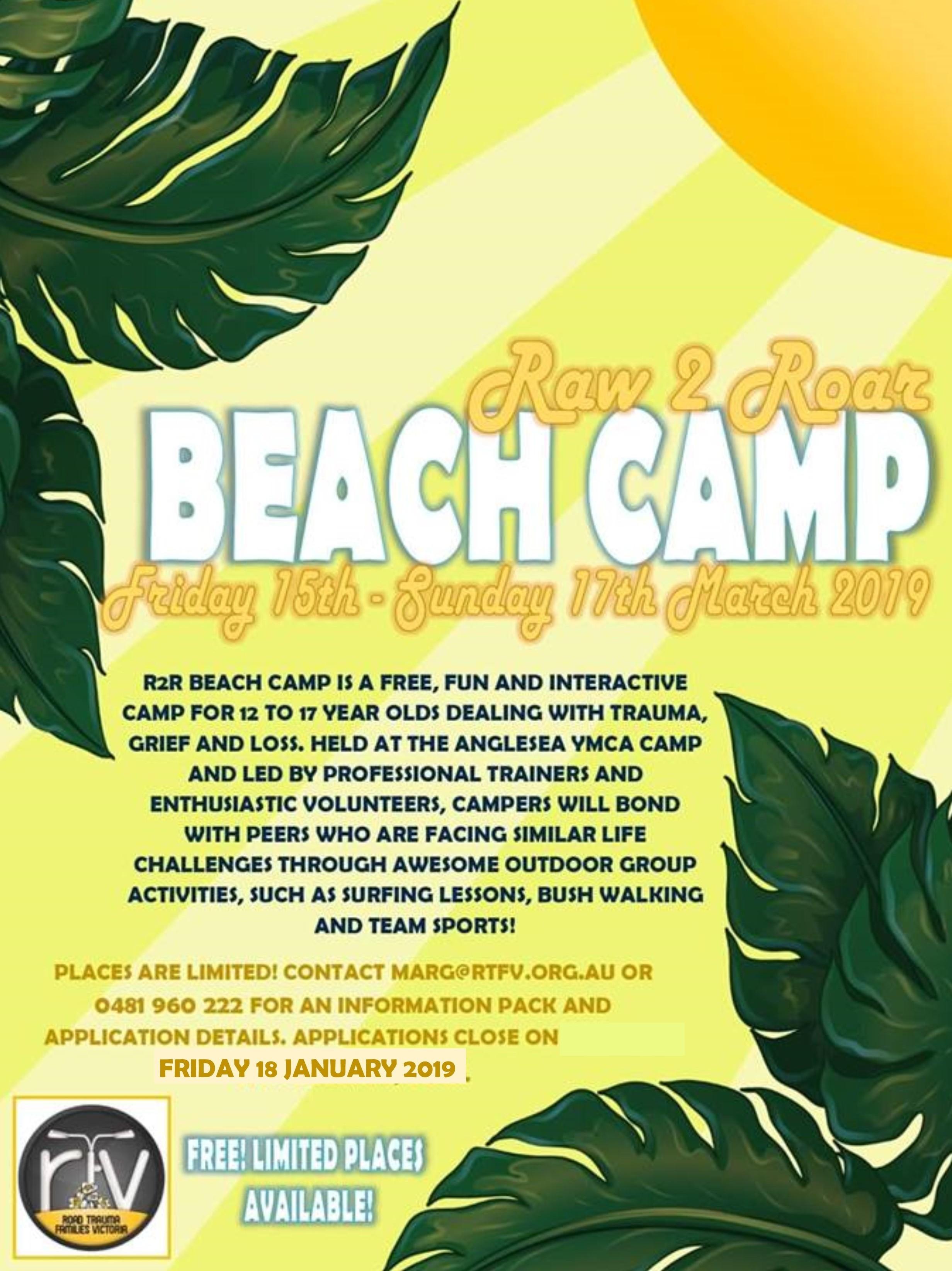 2019 Rtss Beach Camp Flyer